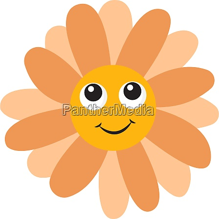 flower with eyes illustration vector on