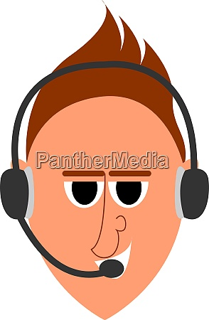 operater with headset illustration vector on