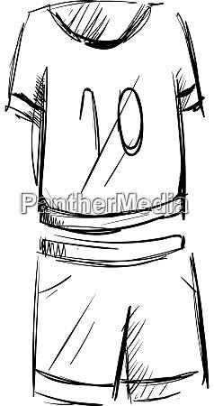 sport cloth drawing illustration vector on