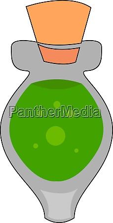 green poison in bottle illustration vector