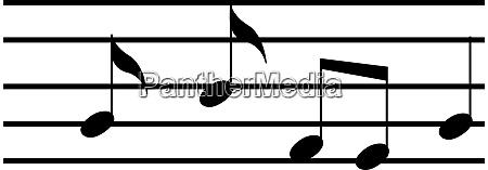 music notes illustration vector on white