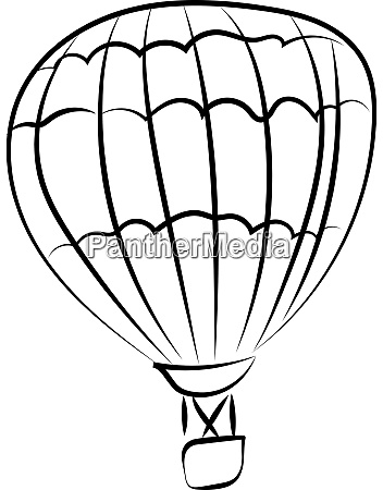 balloon drawing illustration vector on white