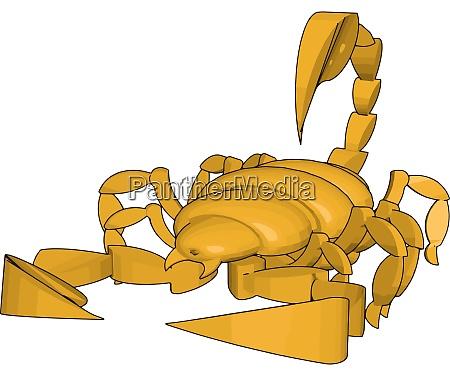 mode of a 3d scorpion illustration
