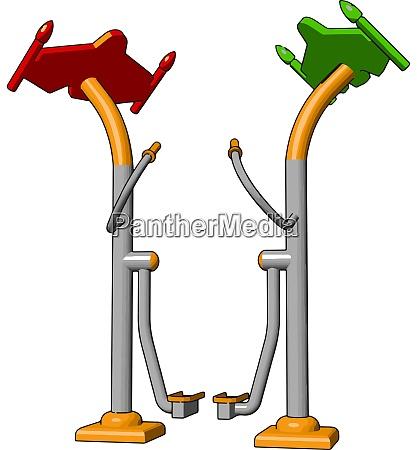 gym training device illustration vector on