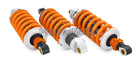 three shock absorbers