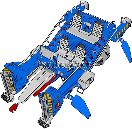 part of excavator illustration vector on