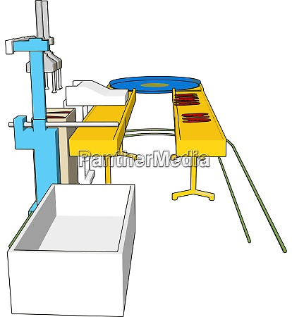 factory machine illustration vector on white