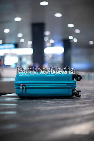 arrived luggage going around on a