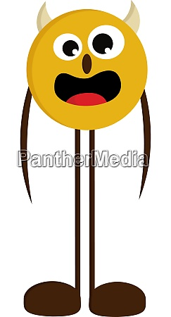 monster with long legs vector or