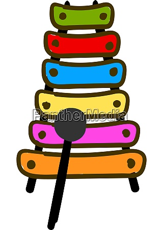 colorful xylophone vector or color illustration