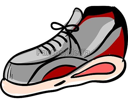 big sneaker illustration vector on white