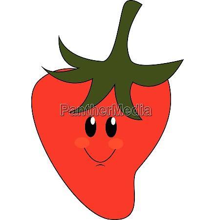 emoji of a smiling red strawberry