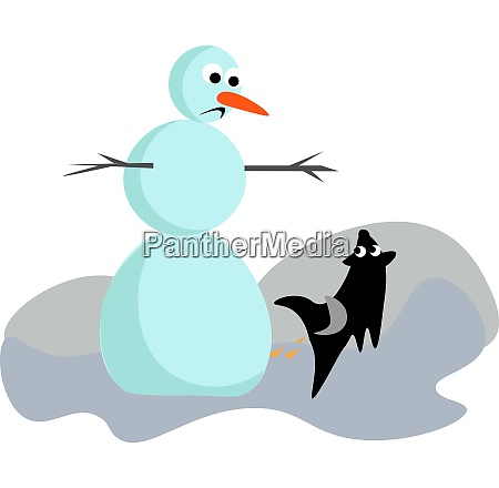 clipart of a sad snowman and