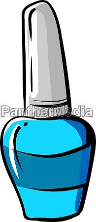 blue nail polish illustration vector on