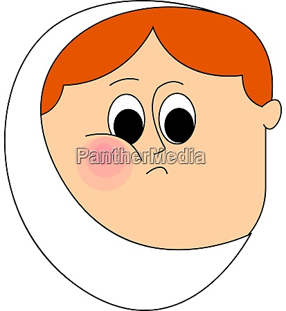 anoying toothache illustration vector on white