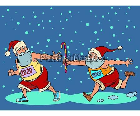 sports relay santa claus old 2019