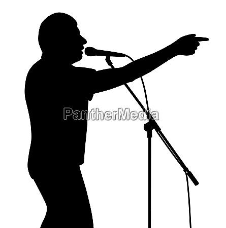 businessman politician lecturer finger pointing motivational