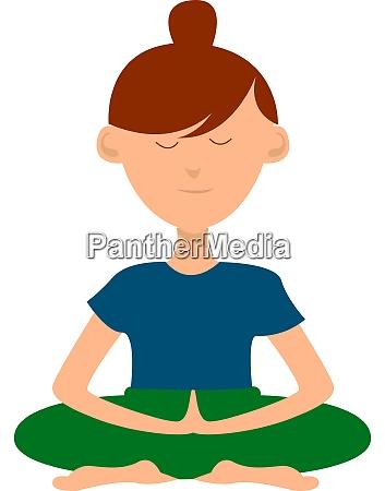 girl doing yoga illustration vector on