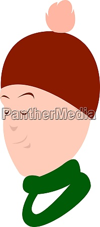 winter hat illustration vector on white