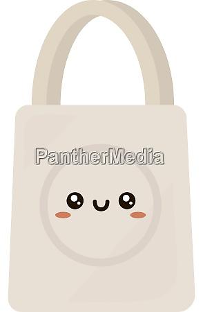 white bag illustration vector on white