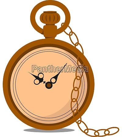 pocket watch illustration vector on white