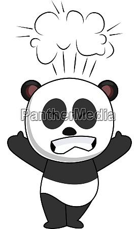 pissed off panda illustration vector on
