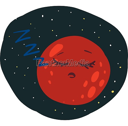 the sleeping planet mars vector or