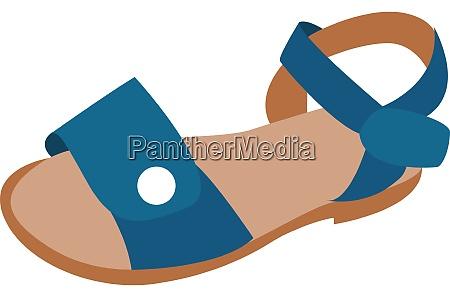 blue sandals illustration vector on white