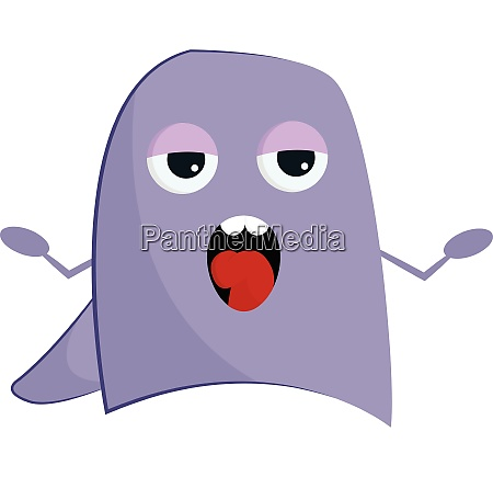 purple singing monster vector or color