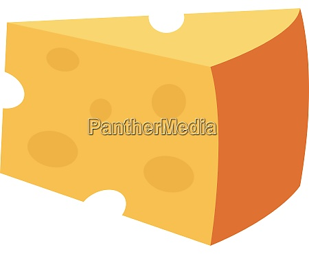 big yellow chesse illustration vector on
