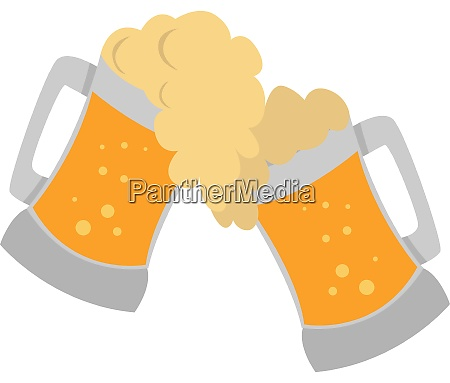 draft beer illustration vector on white