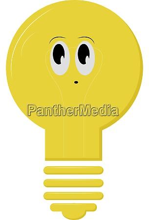 cute lightbulb illustration vector on white