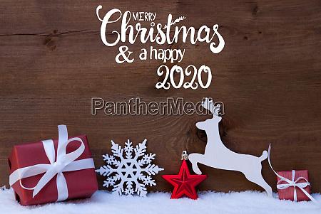 gift deer snowflake snow ball merry
