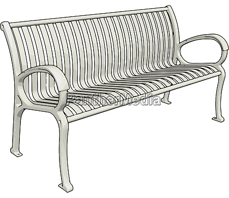 white bench illustration vector on white