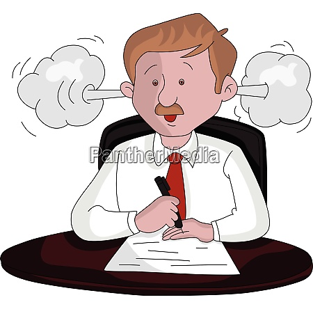 vector of an angry businessman at