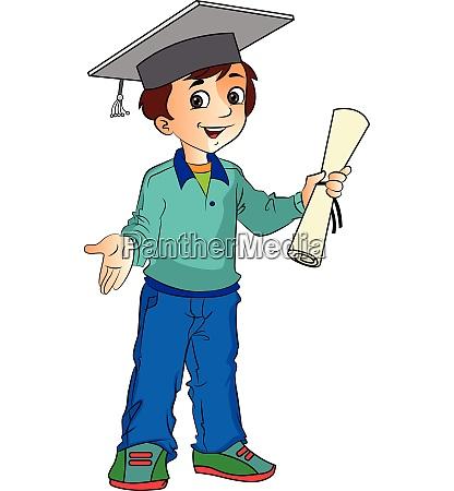 boy graduate illustration