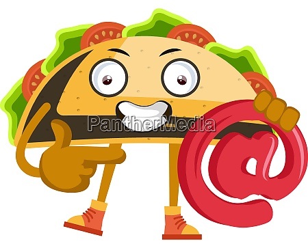 taco with sign illustration vector