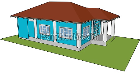 prefabricated house illustration vector on white