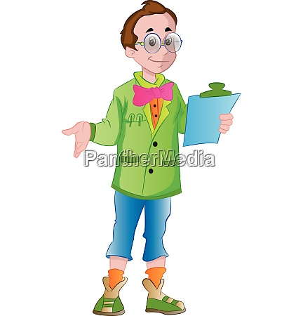 male supervisor illustration