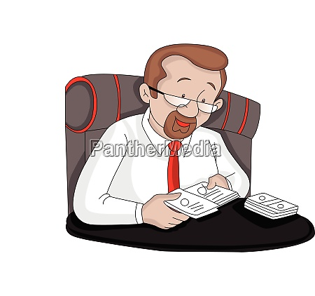 vector of businessman removing cards from