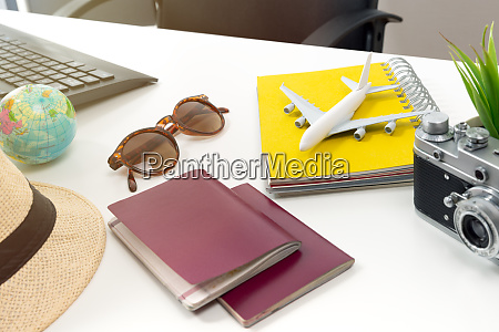 travel planning concept at office with