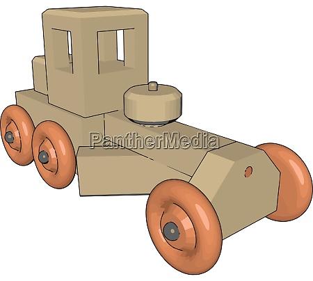 retro car toy illustration vector on