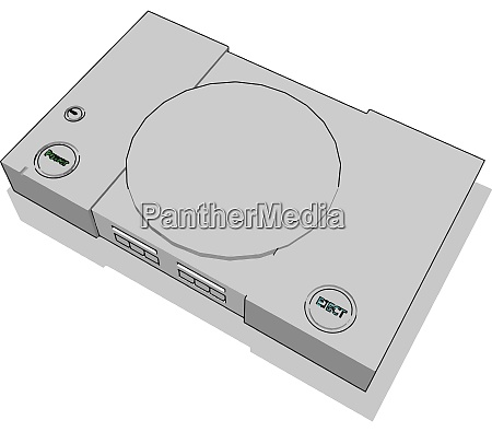console illustration vector on white background