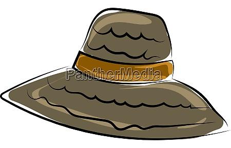 beach woman hat illustration vector on