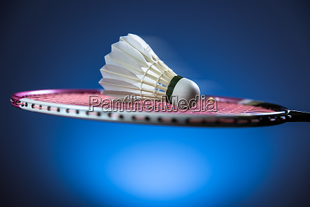 badminton racket and shuttlecock in