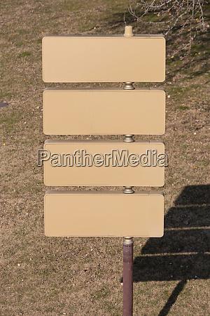information sign pole