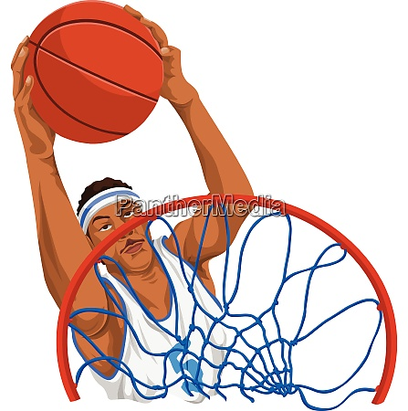 vector of basketball player in action