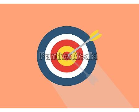 target illustration vector on white background