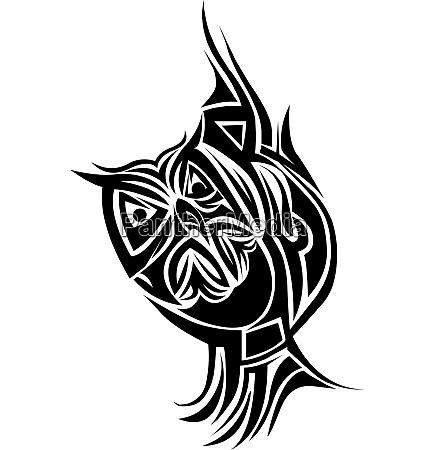 owl tattoo design vintage engraving