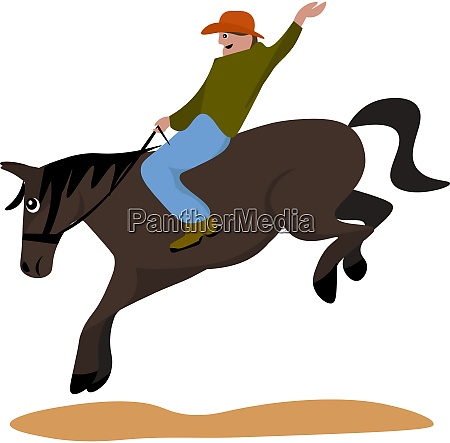 rodeo illustration vector on white background